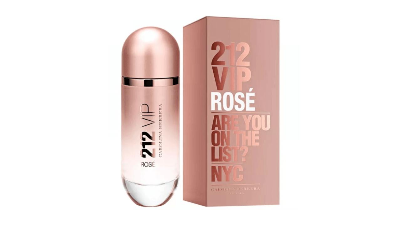 Conheça o perfume feminino 212 Vip Rosé, da marca Carolina Herrera.