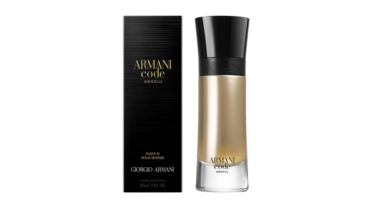 Conheça o perfume masculino Armani Code Absolu, da super marca Armani